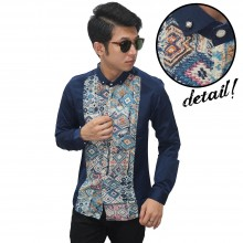 Kemeja Premium Middle Abstract Navy
