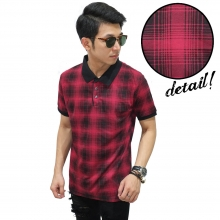Polo Tartan Square Gradient Red