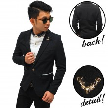 Blazer Pocket List With Deer Pin Black