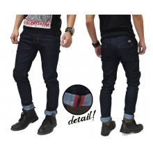 Celana Jeans Rigid Indigo With Ribbon List