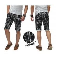 Celana Pendek Webbing Pattern Black