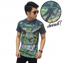 Kaos Superheroes Hulk Face Art Dark Grey