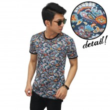 Kaos Tribal Colourful Paisley Pattern
