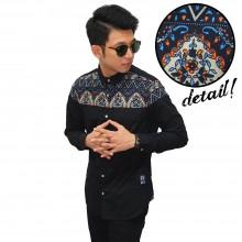 Kemeja Panjang Combi Batik Irian Black
