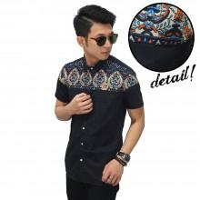 Kemeja Pendek Combi Batik Irian Black