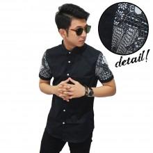 Kemeja Pendek Sleeve Batik Mixing Pattern