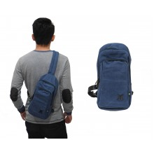Shoulder Bag Canvas Plain Navy
