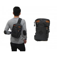 Shoulder Bag Double Pocket Black