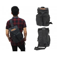 Shoulder Bag Kangaroo Dark Grey