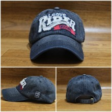Topi Denim Leave Rider Black