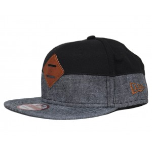 Topi Snapback Two Tone Black