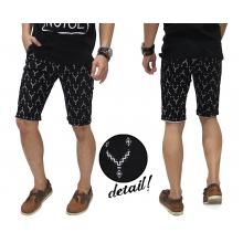 Celana Pendek Zig Zag Pattern Black