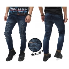 Jeans Ripped Destroyed Naked Kakkoii Dark Indigo