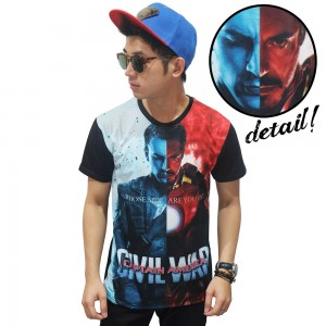 Kaos Superheroes Civil War Black
