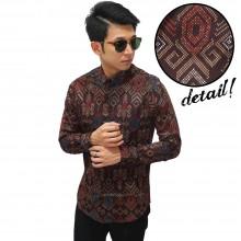 Kemeja Batik Songket Sumatera Brown