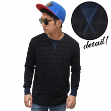 Sweatshirt Dark Tartan Black
