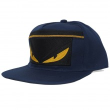 Topi Snapback Fendi Monster Zipper Navy