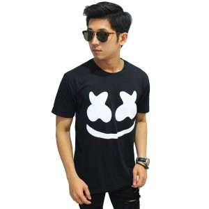 Kaos Dj Marshmello Face Black
