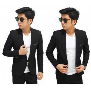 Blazer Formal Pocket List Gold Black