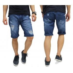 Celana Pendek Jeans Ripped Cutoff Blue