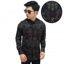 Kemeja Batik Songket Sumatera New Black