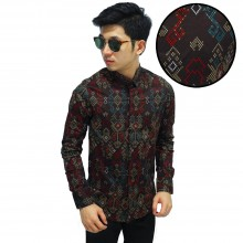 Kemeja Batik Songket Sumatera New Brown