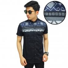 Kemeja Pendek Top Batik Tenun Black