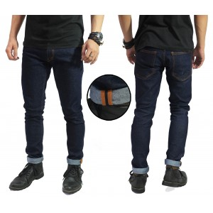 Celana Jeans Blue Rigid Indigo With Ribbon List