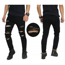 Jeans Ripped Damage Destroyed Black