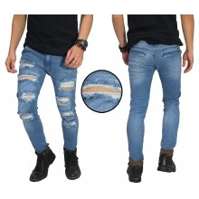 Jeans Ripped Damage Destroyed Blue