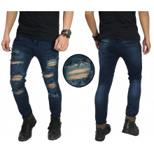 Jeans Ripped Damage Destroyed Dark Indigo