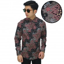 Kemeja Batik Mega Mendung Elegant Black
