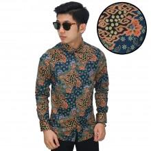 Kemeja Batik Mega Mendung Elegant Tosca