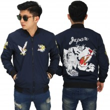 Jaket Bomber Sukajan Japan Lion Navy