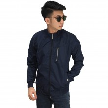 Jaket Bomber Stand Up Collar Navy