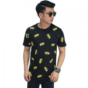 Kaos Batman Logo Pattern Black