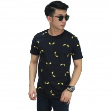 Kaos Fendi Monster Pattern Black