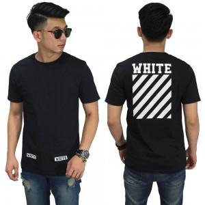 Kaos Off White Diag Black