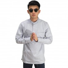 Kemeja Koko Oxford Modern Soft Grey