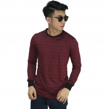 Sweatshirt Faded Stripe Maroon