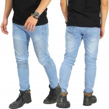Jeans Biker Extend Soft Blue