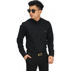 Kemeja Formal Polos Black
