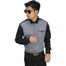 Kemeja Formal Two Combination Grey