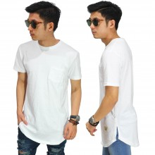 Longline T-Shirt Basic White