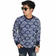 Sweatshirt Ethnic Pattern Navy