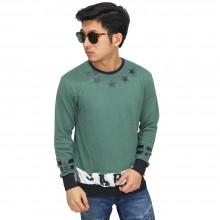 Sweatshirt Stars Circle Green
