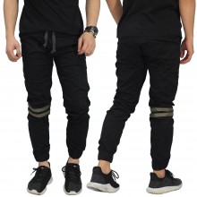 Celana Jogger Chino Double Stripe Black