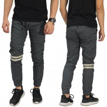 Celana Jogger Chino Double Stripe Dark Grey
