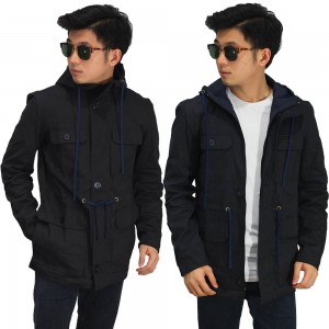 Jaket Parka Cool In Canvas Black