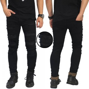 Jeans Ripped Extreme With Inner Black